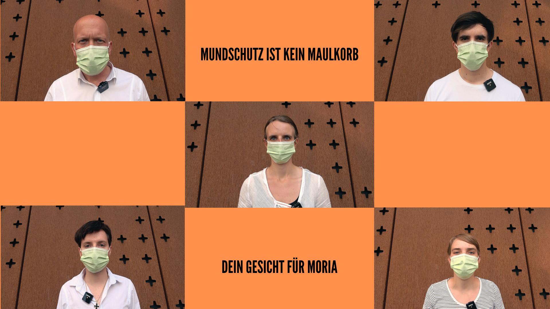 Mundschutz ist kein Maulkorb – Zeig dein Gesicht für Moria – Aktion der Christuskirche Köln ruft zu Online-Demo und Evakuierung der Flüchtlingslager auf