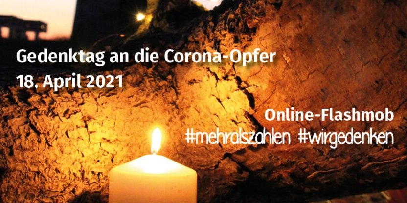 Gedenktag am 18. April an die Corona-Opfer – eine Kerze entzünden